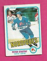 1981-82 OPC # 269 NORDIQUES PETER STASTNY ROOKIE EX+ CARD (INV# C8886)
