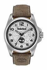 Timberland Men's Leyden Dark Brown Leather Strap Watch 46x57mm TBL14768JS04