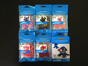 Pokemon Kawada Nanoblock Bundle Mew Popplio Espeon Umbreon Magikarp Chansey New