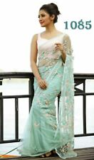 Bollywood Look Saree Net Fabric With Embroidered Party Wear Women Sari LG-1085