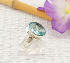 Markenlose Ovale Echte Edelstein-Ringe mit Blautopas
