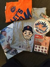 NY Mets Wright Shirt 2015 Giveaway + Tattoos + Canvas Art + Magnet + Rally Towel