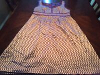 Proenza Schouler for Target Purple and White Silk Sleeveless Dress Lined Size 7