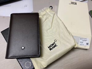 Montblanc Meisterstuck Classics Business Card Holder with Gusset Dk Brown