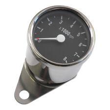 Mini Drehzahlmesser elektronisch, Chrom-Schwarz, 60mm, für Harley-Davidson