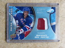 09-10 UD ICE Fresh Threads Patch MICHAEL DEL ZOTTO Rookie RC /15