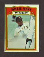 1972 Topps Willie Mays In Action Giants #50 EX-MT