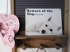 FABULOUSLY CUTE VINTAGE RETRO METAL SIGN WALL PLAQUE *BEWARE OF THE DOG...,*
