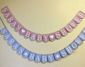 Personalised Alphabet Baby Shower Bunting Party Decoration Banner Boy Girl BSB6a
