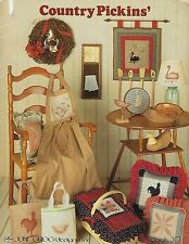 Country Pickins' June Grigg Designs Quilting Folk Art Patterns Craft Book #2036