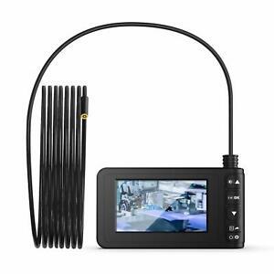 "5M Endoscope Borescope 4.3"" LCD Inspection 8mm Snake Camera Scope Waterproof HD"