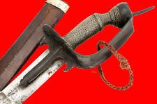 Rare 19th C. Indonesian Sumatra Pedang Sword wth Mughal Indian Khanda Style Hilt