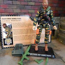 GI JOE ~ 2015 WRECKAGE ~ SGT SABRE TOOTH TIGER FORCE ~100% & FC joecon firefly