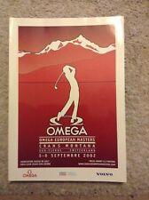 New listing 2002 Omega European Masters Programme: Golf: PGA European Tour