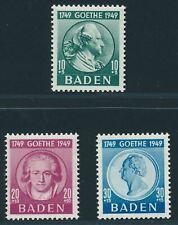 BADEN FRENCH OCCUPATION Mi. #47-49 mint stamp set! CV