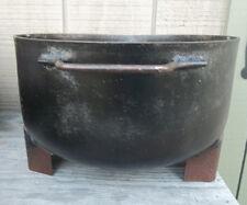 Black Kettle Pot Cauldron 2 Handles & Spout Planter, witches Pot, Halloween Pot