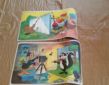 1976 Pepsi Warner Brother Looney Tunes Daffy Duck Foghorn Leghorn Placemat Set