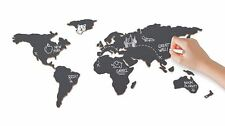 Luckies Self Adhesive Chalkboard Map With Chalk Sticks Interactive Map