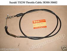 Suzuki TS250 Throttle Cable 1973-1976 NOS TS400 THROTTLE WIRE 58300-30602