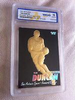 """""""RARE"""" TIM DUNCAN 1997-98 FLEER 23KT GOLD """"BLACK"""" WCG GEMMT 10 ROOKIE CARD!"""