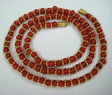 20k gold beads necklace tribal jewelry rajasthan india