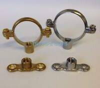 Brass Munsen Ring & Female Backplate all sizes& Chrome Plated - Copper Pipe Clip