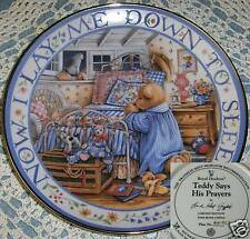 Royal Doulton Plate Franklin MintTeddy Says His Prayers