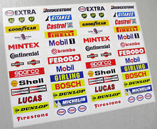 SLOT CAR SCALEXTRIC vintage style Barrier stickers x52!