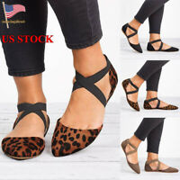 Summer Womens Ankle Strap Sandals Ladies Casual Slip On Flat Shoes Beach Size