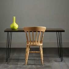 Hairpin Desk In Solid, Old Oak Hardwood. Stunning Table / Desk / Dining Table!