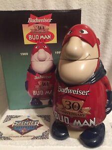 Budweiser 30th Anniversary Bud Man Stein CS401 (signed)
