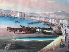 Antico quadro - Guazzo - gouache Napoli dal Carmine - '800