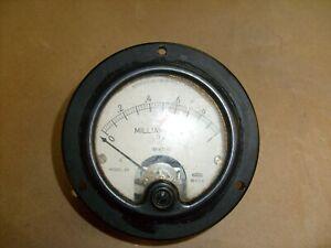 Vintage Weston DC Milliamperes Meter 0-1 model 301 Panel Meter ham radio estate