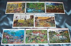 US - Nature of America sheets 1 - 8, Sc. 3293, 3378, 3506, 3611. 3802, 3831, etc