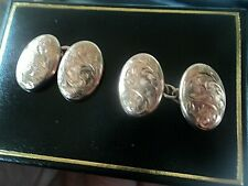 Edwardian 9ct Rose Gold Aesthetic Cufflinks + box h/m 1909 Chester - not plated