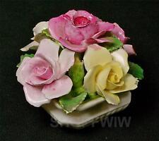 Vintage Crown Staffordshire Bone China Flower Basket England 1911