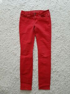 Jeans Damen Esprit Skinny Medium Rise Größe 27/32 rot leicht stretchig neuwertig