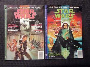 1993 STAR WARS Comic Magazine #4 & 6 FN- 5.5 Dark Horse UK Indiana Jones