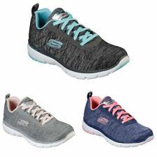Details zu Skechers Flex Appeal 2.0 Schuhe Damen Sneaker Turnschuhe 12753 (Schwarz BKLB)