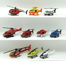 *** (10) HOT WHEELS & MATCHBOX HELICOPTERS LOT ~ RESCUE NEWS PEPSI ***