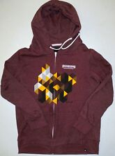 XL Womens Hurley Ramblers Loyola Chicago U Cotton Poly Zippered Sweatshirt