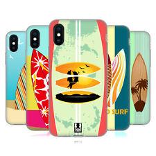 HEAD CASE DESIGNS SURFBOARDS SOFT GEL HÜLLE FÜR APPLE iPHONE HANDYS