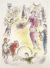 Marc Chagall Lithograph DLM Les Clowns Musiciens First Edition Maeght 1981