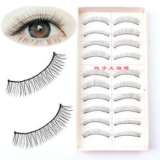 10 Pairs Natural Thick Long False Eyelashes Fake Eye Lashes Voluminous Extention