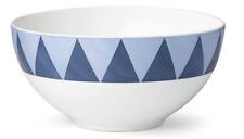 "New w/ Tag Luca Andrisani Lenox 6"" All Purpose Cereal Bowl Blue Azzurro Triangle"