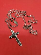 Vintage Pink Beads Crucifix Rosary