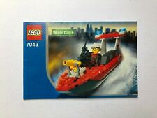Lego City Set 7043 Fire Boat - Instructions Only Great Condition - 2004 D