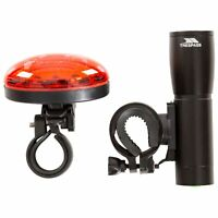 Trespass Bike Light Set LED Front and Rear White Red Light Cycling