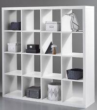 Raumteiler Style 6, weiß, Regal, Schrank, Standregal, Bücherregal, 16 Fächer