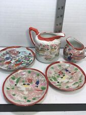 ANTIQUE TEA SERVICE PLATES & PITCHERS - lot of 5 MADE IN JAPAN